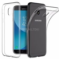 Clear Slim Gel Case and Glass Screen Protector for Samsung Galaxy J3 (2017)
