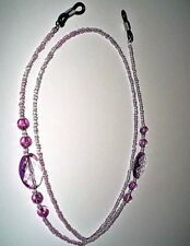 Purple Beaded Eye Glasses Holder Neck Strap Chain Necklace Cord Party Favor