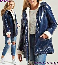 NEW Womens WATERPROOF Quilted Coat Jacket Parka LADIES Fur Hooded sizes 8-16