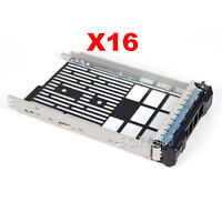 "Lot of 16,3.5"" SAS SATA HDD Hard Drive Tray Caddy Sled For Dell PowerEdge R730XD"