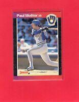 1989 Donruss baseball  #291  PAUL MOLITOR  Milwaukee Brewers Hall of Fame