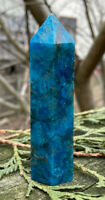 111.6g NATURAL BLUE/GREEN APATITE CRYSTAL POLISHED HEALING WAND Reiki  NORWAY