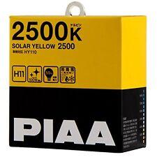 PIAA 2500K SOLAR YELLOW 2500 H11 Headlight halogen Fog Light Bulbs HY110 JapanFS