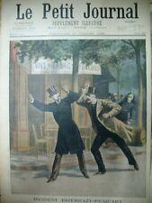 AFFAIRE DREYFUS INCIDENT ESTERHAZY PICQUART CORSE BANDIT LE PETIT JOURNAL 1898