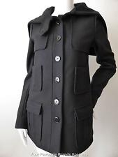 PATRIZIA PEPE Women's Coat Size 8 - 10  US 4 - 6 EU 40 Black Wool with Hood/Cape