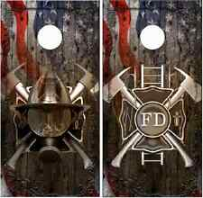 Firefighter Ghost Cross Mask Fla Cornhole Wrap Bag Toss Skin Decal Sticker Wraps