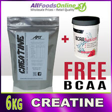 6KG PURE CREATINE MICRONISED MONOHYDRATE - UNFLAVOURED