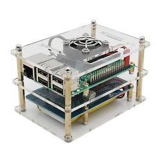 5 In 1 Raspberry Pi 3 Model B + Lithium Battery Board + V35 Acrylic Box + Pi Fan