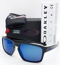 NEW Oakley Sliver Sunglasses Black Ice Iridium MOTO GP 9262-28 AUTHENTIC Blue Mx