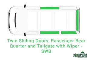 4 x VW T5/T6 Campervan Blackout Curtains Sets,Double Sling Door (SWB Tailgate)