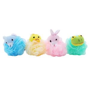 Kids Mesh Sponges Bath Sponge Scrub Stuffed Animal Shower Loofah Toy Body Brush