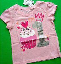 "NEW ""I'm 1"" 1st Year Girls Birthday Shirt 12-18 Months Cupcake Princess Gift! SS"
