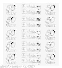 Hobby   Design   Sticker *Einladung   50 Jahre   Silber* 3452435 NEU