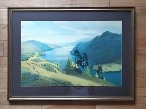 Large Framed print of Ullswater by W Heaton Cooper