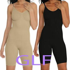 UK Women Full Body Shaper Underbust Tummy Control Slimming BodySuit Shapewear