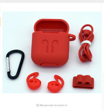NEW-AirPods Case Protective Silicone Skin Holder Bag for Apple Accessories