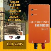 Solar Electric Fence Energizer Charger for Animals Electric Fencing Controller