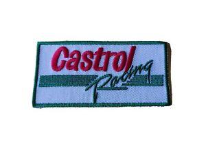 CASTROL (f) Racing Stripe Motor Racing / Motorsport Patch Sew / Iron On Badge