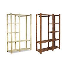 Garderobe Kleiderschrank Holz Regal für Kleidung Kiefer Serie B-25 / 2 Farben