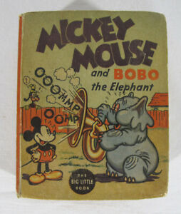 Vintage 1935 MICKEY MOUSE AND BOBO THE ELEPHANT Big Little Book #7 yqz