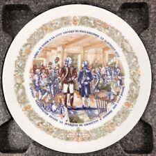 D'Arceau Limoges Porcelain Lafayette Legacy 1776 Revolutionary War Plate Iii 367