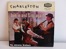 JOHNSTON BROTHERS Charleston Join in and sing again DFE 6311