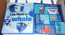 2 Pack Disney Pixar Finding Dory Nemo Tote Bags Reusable Eco 13 x 6 Lightweight