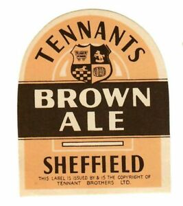 Beer Label: Tennant, Sheffield, Brown Ale 66mm tall