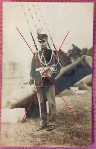Vintage WWI USMC USN Marine Corps Navy RPPC photo post card band musician