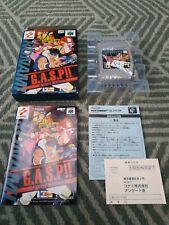 NINTENDO 64 N64 JAPANESE NTSC-J GAME - G.A.S.P FIGHTING - CIB COLLECTORS QUALITY