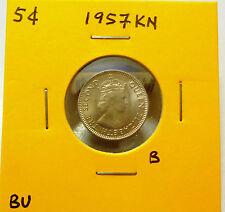 B: Malaya 5 Cents coin 1957KN QEII - BU