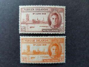 Omnibus - Virgin Islands - 1946 - Sc 88 - 89 - Peace Issue  MH
