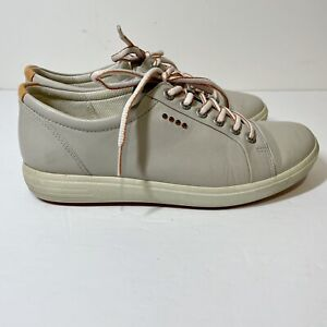 ECCO 38 US 7-7.5 Women's Golf Sneakers Shoes Extra Wide Soft Gray