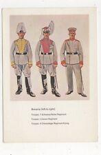 Bavaria German Uniforms First World War Museum Postcard 997a