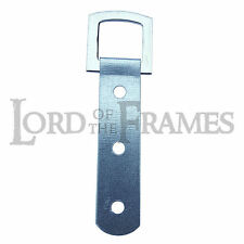 Nickel 85mm Strong Heavy Duty 3 Hole PICTURE FRAME STRAP HANGER Optional Screws