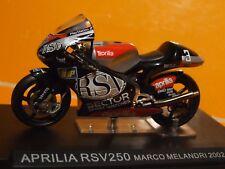 1:24 escala 2002 Marco Melandri Aprilia RSV250 por IXO