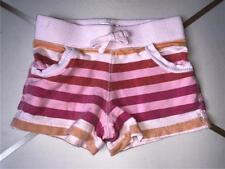 4T GIRLS OLD NAVY FADED PINK ORANGE STRIPE SUMMER PLAY SHORTS ELASTIC WAIST