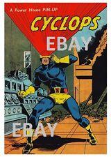 POWER PIN-UP Print - CYCLOPS A X-Men Vintage Artwork Marvel UK Distribution