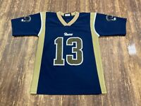 VTG Kurt Warner St. Louis Rams Blue Logo Athletic NFL Football Jersey Youth Med