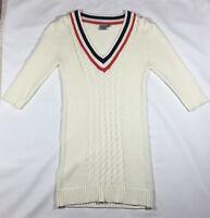 EUC Women's ASOS Ivory V-Neck Sweater Dress-size 4