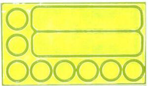 FuelBelt Peel & Stick Reflective Stickers - Neon Green