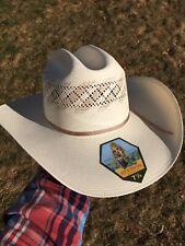 STETSON Thunder Genuine 10X Shantung Panama Straw Cowboy Hat Size 7 1/4  New