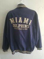NFL Miami Dolphins Jacket Mens Size XXL Blue Zip Up