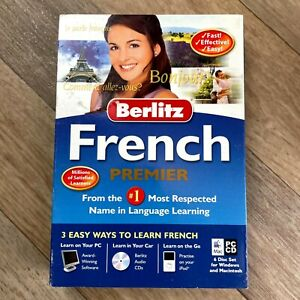 Berlitz Learn French Premier, Learn how to speak French Language Course PC + Mac
