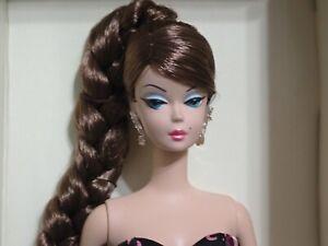 45th Anniversary Silkstone Barbie Unboxed Dressed In Cardboard Insert COA, Stand