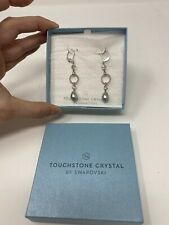 Touchstone Crystal by Swarovski SOUTH SEAS Earrings New in Box