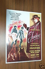 CHANNING POLLOCK EDITH SCOB THEO SARAPO GEORGES FRANJU JUDEX 1963 RARE SYNOPSIS