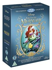 The Little Mermaid Trilogy 1-3 Movie Collection Disney Blu-Ray 1 2 Ariel Ursula