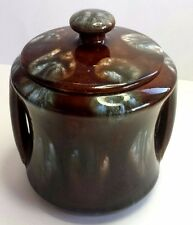 REGAL MASHMAN TOBACCO JAR . AUSTRALIAN ART POTTERY .