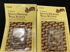 Two New Packs Houseworks Doll House Single Frosted Wall Sconce 12 Volt Lights